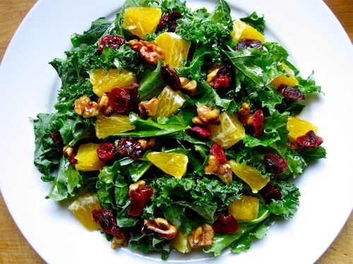 cranberry orange kale salad